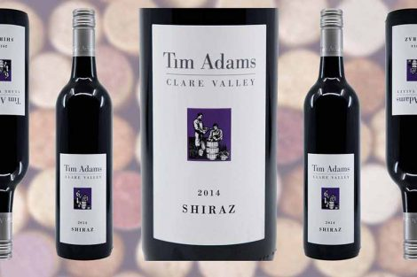 Tim Adams Shiraz wine bottle and label from Winedup Club wine reviews