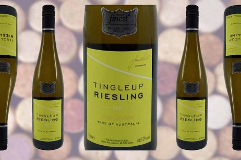Tesco Finest Tingleup Riesling wine bottle and label from Winedup Club wine reviews