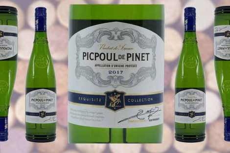 Aldi Picpoul di Pinet wine bottle and label from Winedup Club wine reviews