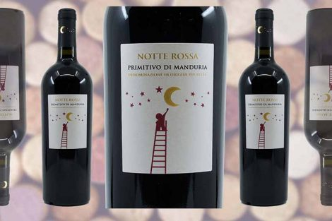 Marks and Spencer Notte Rossa Primitivo di Manduria wine bottle and label from Winedup Club wine reviews