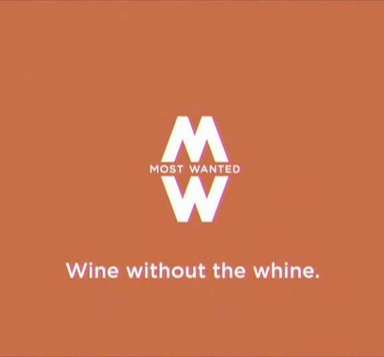 Most Wanted Wines logo with slogan Wine without the Whine